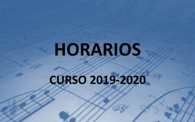 Horarios curso 2019/2020