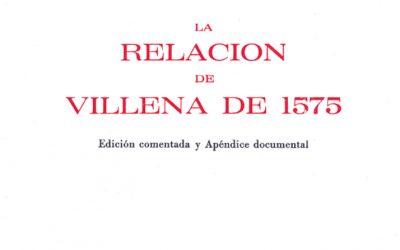 Obras digitalizadas. La Relación de Villena de 1575 / El polifonista Villenense Ambrosio Cotes