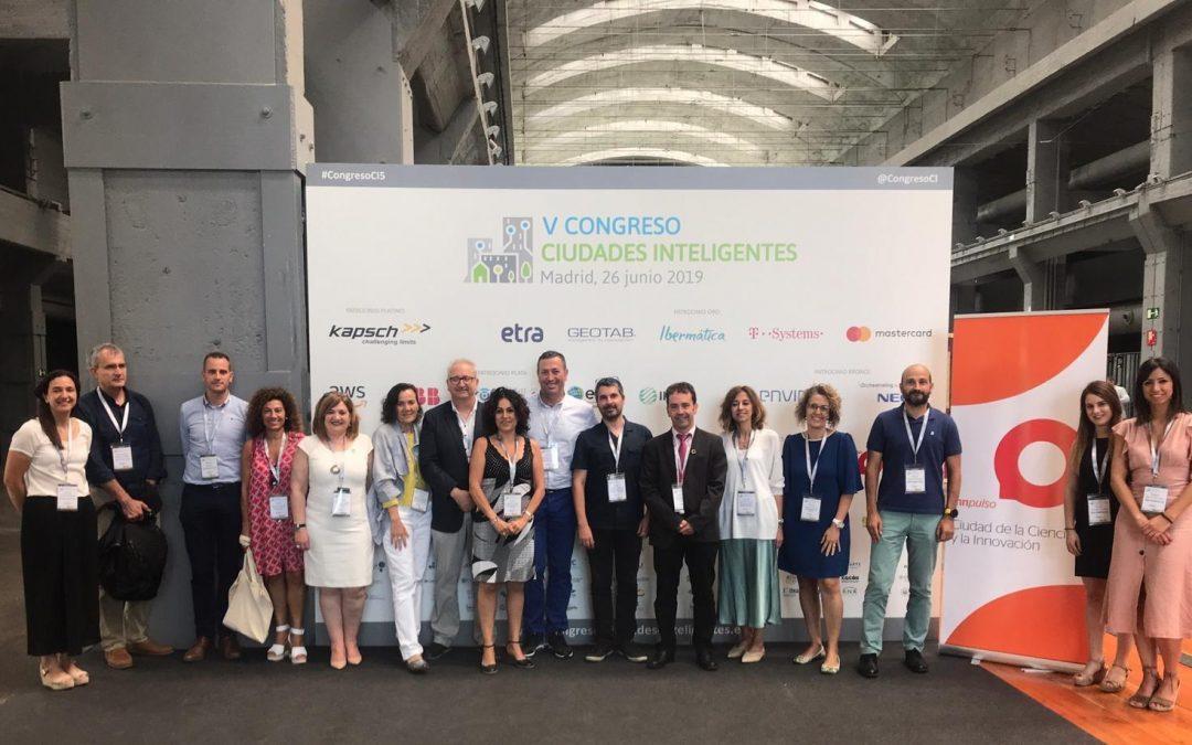 El Ayuntamiento de Villena presente en el V Congreso de Ciudades Inteligentes de Madrid