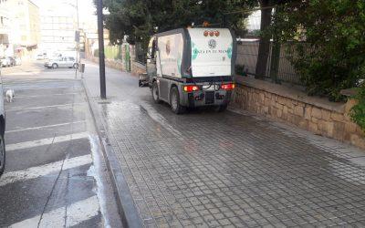Villena intensifica la limpieza viaria