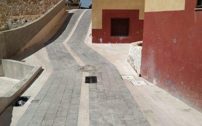 Finalizadas dos tramos de la calle La Rambla