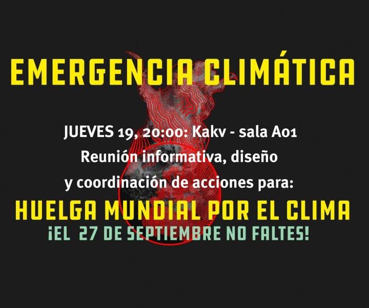 Reunión para aunar propuestas para la Huelga por el Cambio Climático