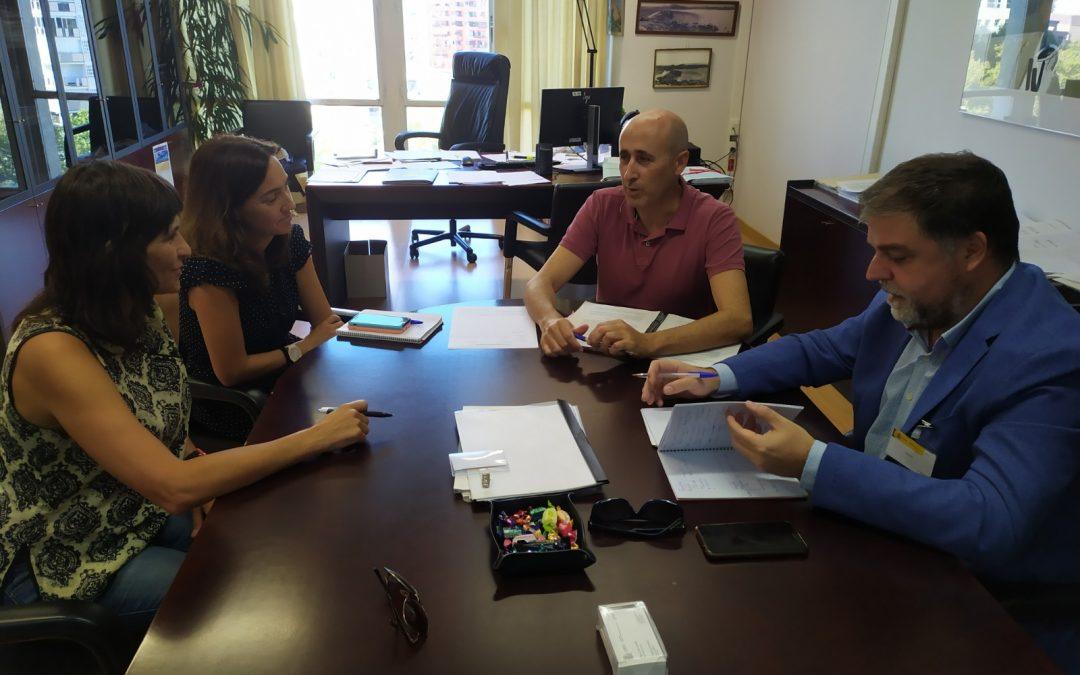 Reunión con Confederación Hidrográfica por la conservación de la acequia del rey