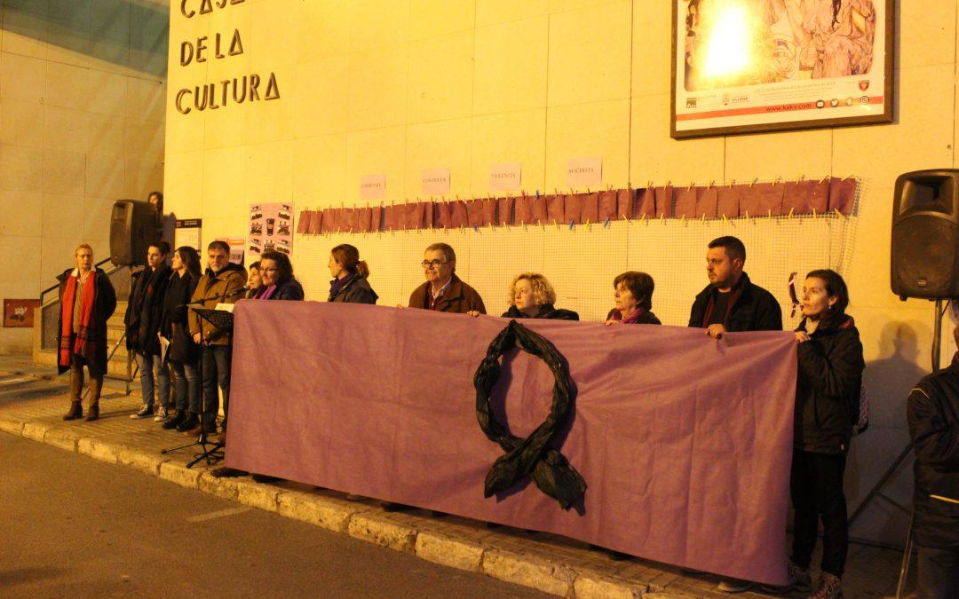 Villena se hace oír contra la violencia de género