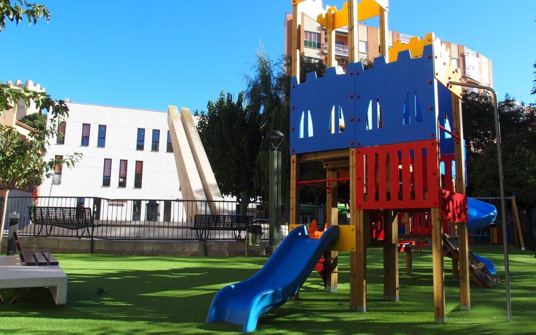 Reapertura de los juegos infantiles en Villena