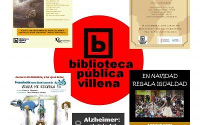 Diciembre de biblioteca: un puñado de actividades para disfrutar estos días en las Bibliotecas de Villena