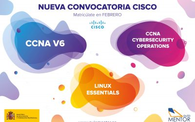 Nueva convocatoria de cursos CISCO