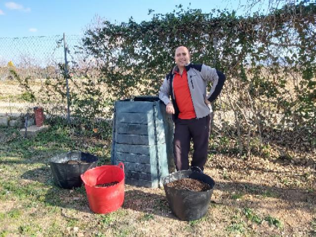 El proyecto de compostaje doméstico comienza a dar sus frutos