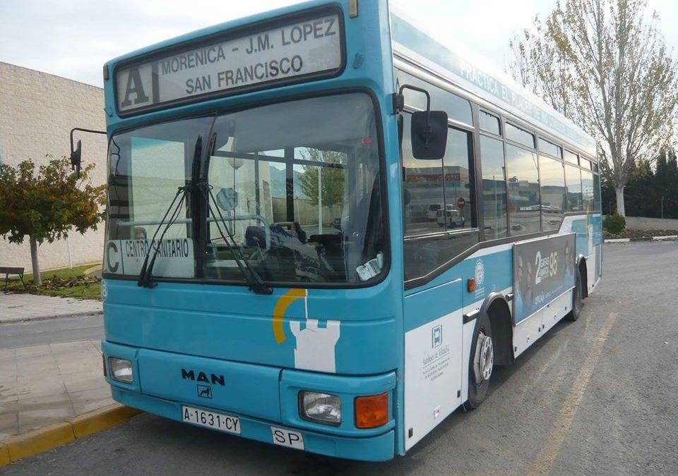 Modificación del horario del autobús urbano