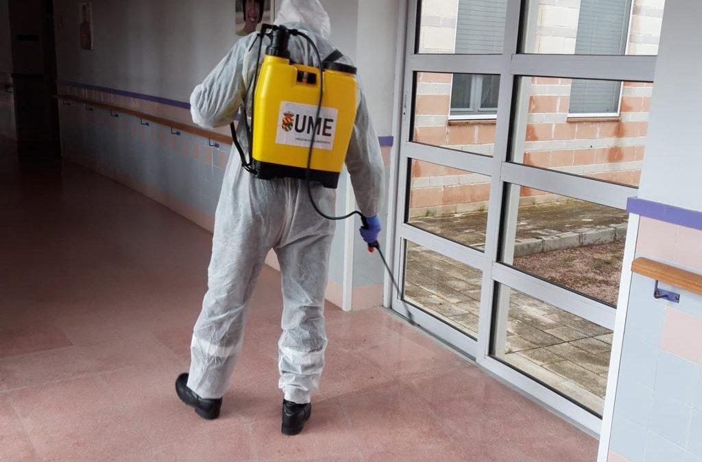 La UME colabora en las tareas de desinfección en Villena