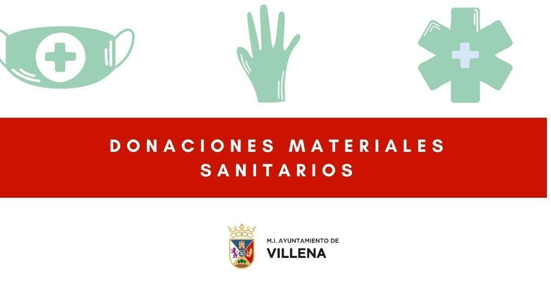 Recomendaciones para las donaciones de material médico