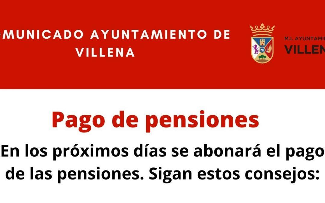 Recomendaciones por el cobro de pensiones