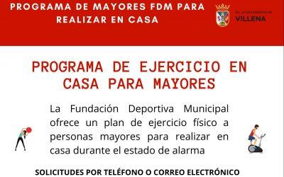 Cambio teléfono contacto del Programa de Mayores de la FDM