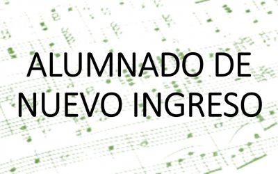 ALUMNADO DE NUEVO INGRESO