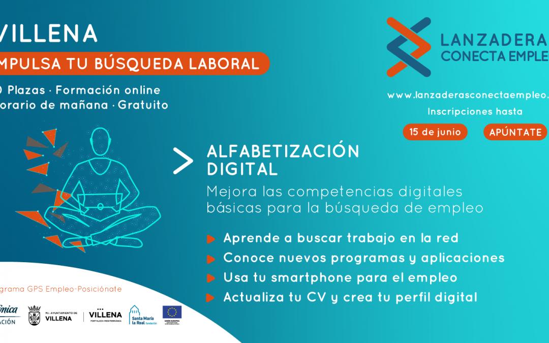 """Villena  pone en marcha un programa de """"Alfabetización Digital"""" para personas desempleadas"""