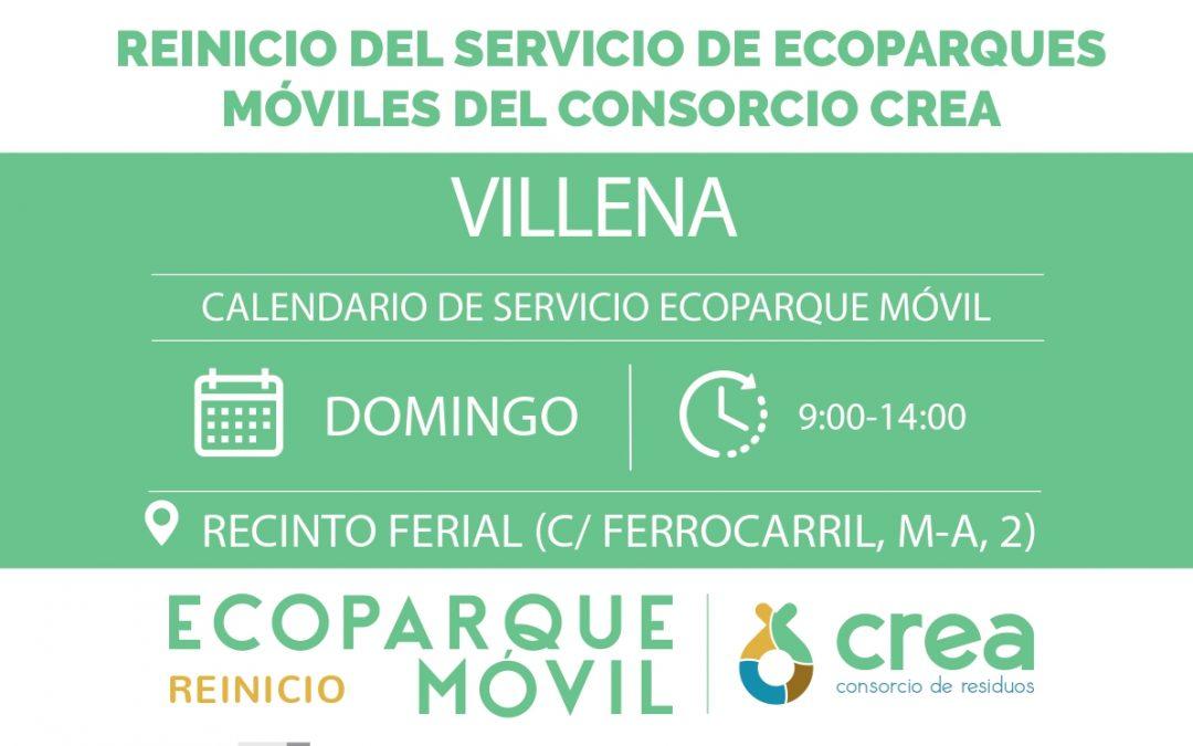 El ecoparque móvil de Villena reanuda su actividad el domingo 17 de mayo