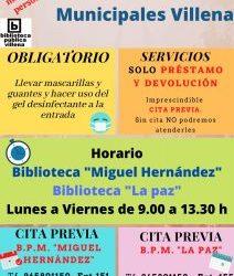 NUEVO HORARIO a partir del lunes 18 de mayo en la reapertura de las Bibliotecas