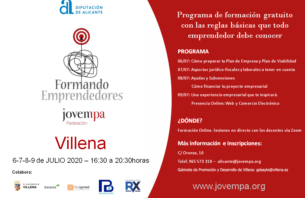 """El Ayuntamiento de Villena pone en marcha el programa """"Formando Personas Emprendedoras"""""""