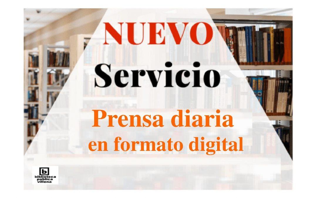 Servicio de prensa online en las Bibliotecas de Villena