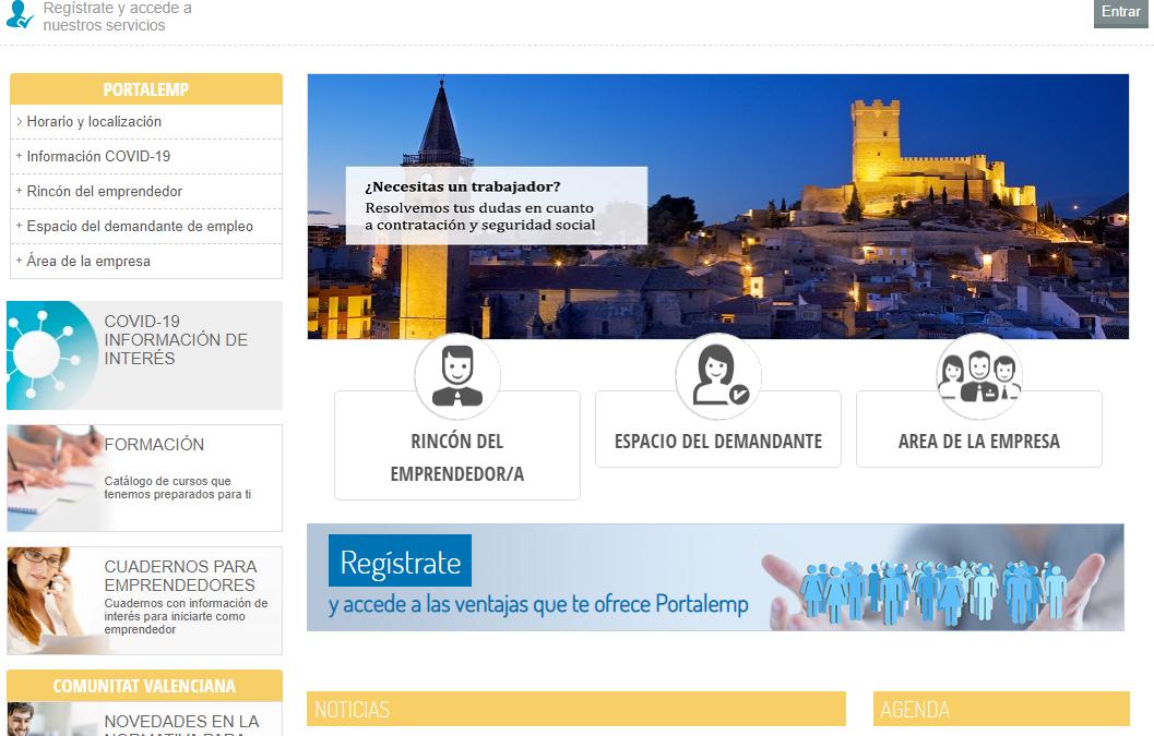 El Ayuntamiento de Villena lanza 'Portalemp' un portal para la búsqueda de empleo