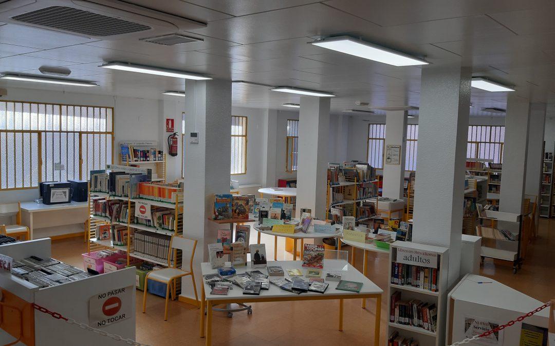 El Ayuntamiento termina el repintado integral de la biblioteca de La Paz y renueva su sistema de climatización