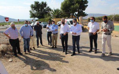 El Conseller de Obras Públicas visita Villena  para conocer los trabajos de drenaje que Consellería ha llevado a cabo en la CV-809