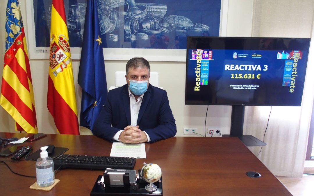 Hoy se reabre el Plan Reactiva Villena para empresas afectadas por  la pandemia