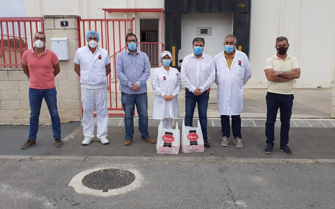 El Alcalde y el concejal de Industria visitan las instalaciones de Cárnicas Grau