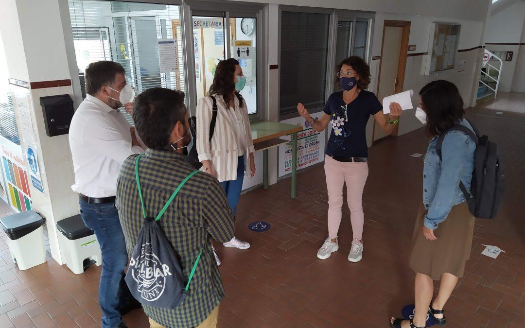 Visita a los centros educativos en la vuelta del curso escolar