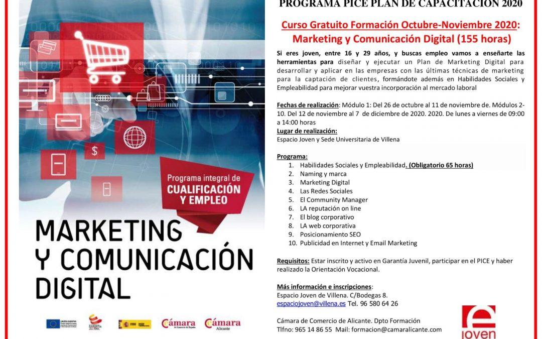 Espacio Joven ofrece el curso de Marketing y Comunicación Digital para futuros profesionales